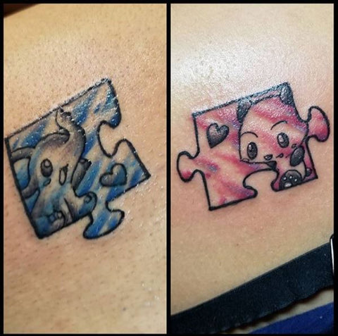 Best friend tattoos puzzle pieces