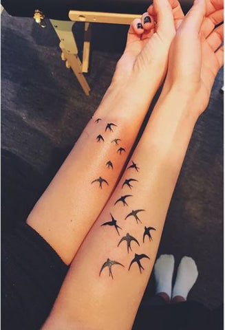 Best friend matching tattoos birds