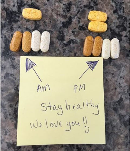 Love note to take vitamins