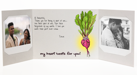 Love notes - heart beets