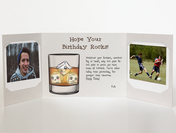 Send a personalized birthday card for men with photos by mail online - Whiskey birthday Card for men by CareGatto