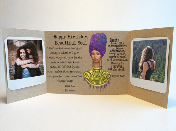 Erykah Badu Birthday Card Personalized Mailed For You Online CareGatto