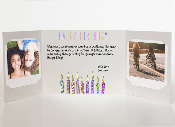 Send a personalized birthday card - colorful candles