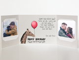 Send a personalized birthday card with photos by mail - Giraffe Birthday Card by CareGatto