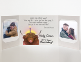 Send a personalized birthday card with photos by mail - Holy Cow by CareGatto