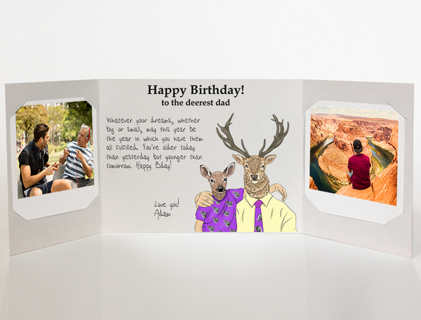 Send A Personalized Birthday Card To Dad From Son With Photos By Mail Online