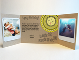 Send a personalized birthday card with photos by mail - Tribal Sun by CareGatto