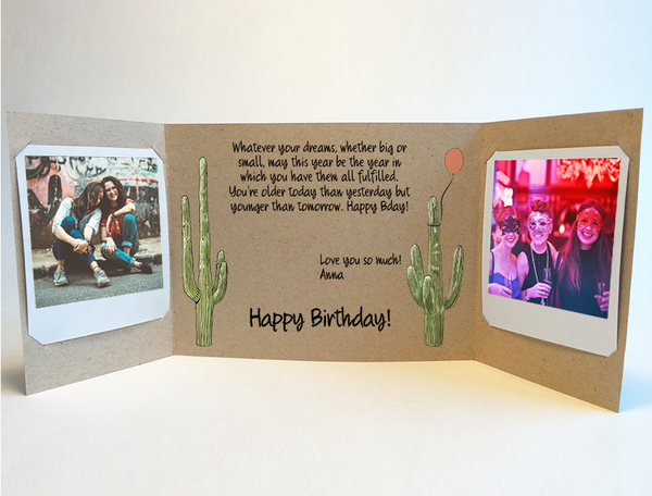 Send a personalized birthday card with photos by mail online - Desert Daze Birthday Card by CareGatto