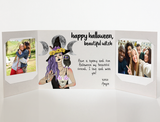 Beautiful Witch<br> Halloween Card<br> Photo Greeting <br>(3 options)