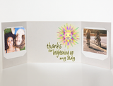 Brighten My Day<br> Thank You Card<br> Photo Greeting