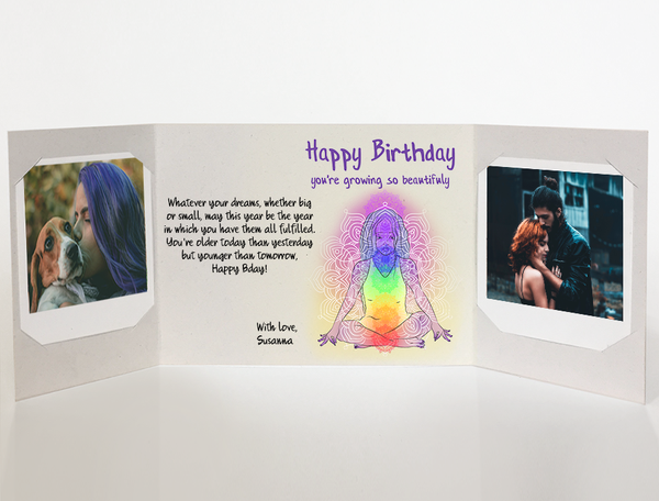 Send A Yoga Personalized Birthday Card With Photos By Mail Online