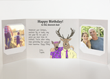 Send a personalized birthday card to dad from daughter with photos by mail online - Dad Birthday Card by CareGatto