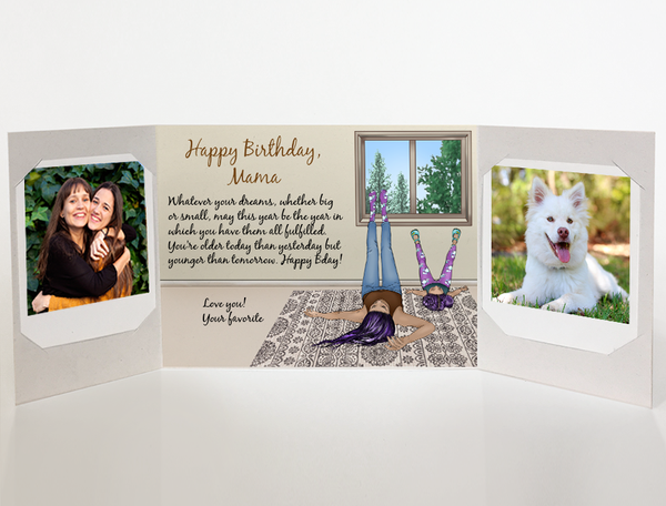 Send a personalized birthday card with photos by mail - Mother Birthday Card by CareGatto