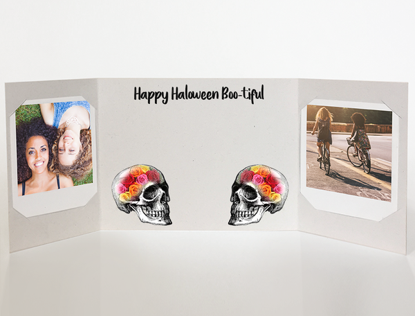 Halloween card<br> rosehead<br>photo greeting