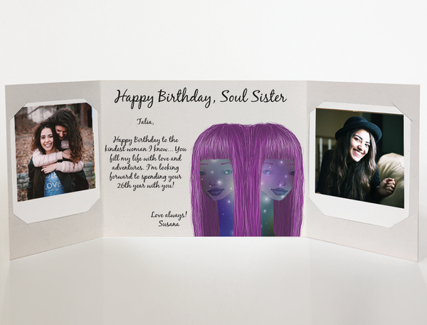 Send a personalized birthday card with photos by mail online - Soul Sister Birthday Card by CareGatto