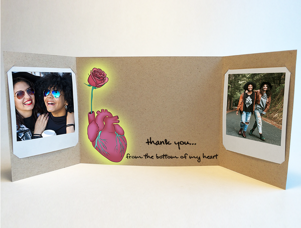 Bottom of my Heart<br> Thank You Card<br> Photo Greeting