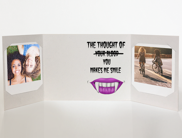 Vampire Fangs<br> Halloween Card<br> Photo Greeting