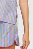 Candy Pinstripes Shorts Set