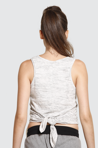 Grey Tie-Up Vest