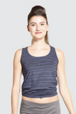 Aizen Blue Crop Top Front