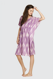 Purple Ikkat Kaftan Dress