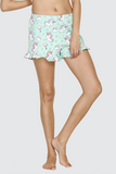 Soft Turquoise Unicorn Ruffles Shorts