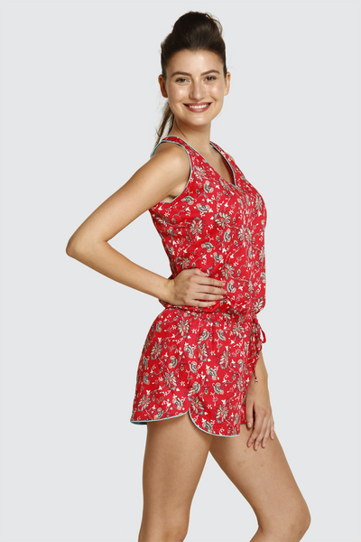Romance With Florals Shorts Set