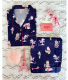 Feel Like a Unicorn Navy Blue PJ Set