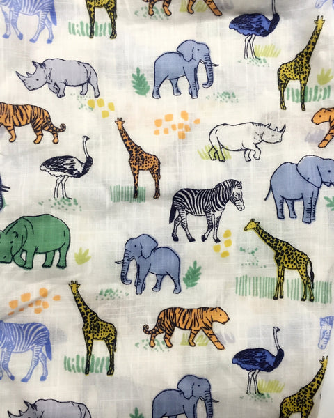 Zoo Day with Animals PJ Set - Kids