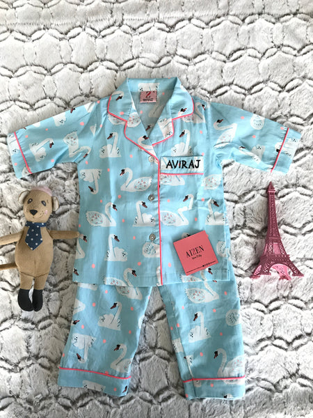 Swan Themed PJ Set - Kids