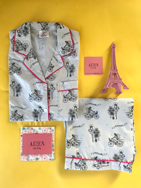 Summer in Paris PJ Set