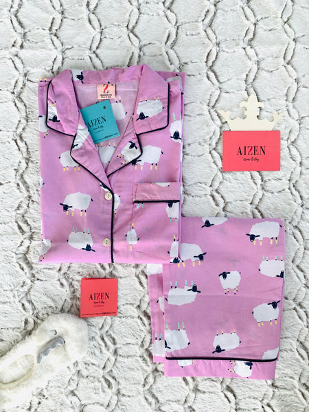 Sleepy Sheep Lavender Kids PJ Set