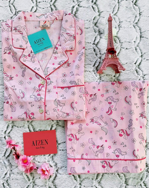 Pink Unicorn PJ Set