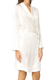 Luxe Satin Robe with Chantilly Lace