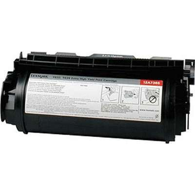 Lexmark 12A7465 BLACK TONER (RETURN PROGRAM) YIELD 32,000 PAGES