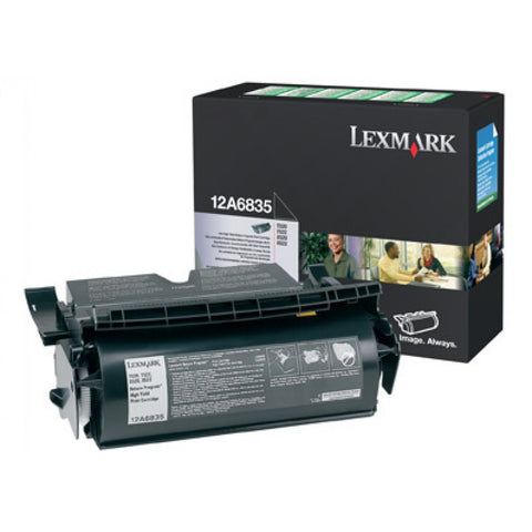 Lexmark 12A6835 BLACK (PREBATE) TONER YIELD 20,000 PAGES