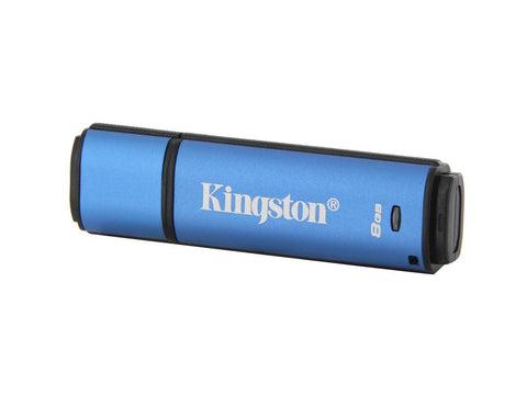 KINGSTON 8GB 256BIT AES ENCRYPTED USB 3.0, PASSWORD PROTECTION, ALUMINIUM CASING