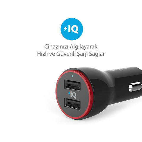 Anker A2310H11 PowerDrive 2 24W USB Car Charger