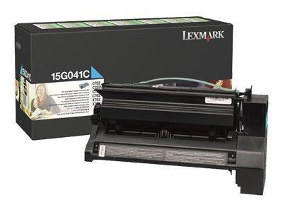 Lexmark 15G041C CYAN (PREBATE) TONER YIELD 6,000 PAGES FOR C752, 760, 762