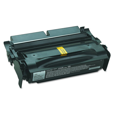 Lexmark 12A8425 BLACK TONER (RETURN PROGRAM) YIELD 12,000 PAGES