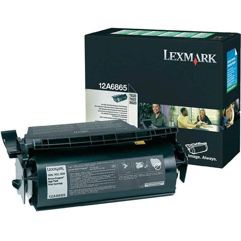 Lexmark 12A6865 BLACK (RETURN PROGRAM) TONER, YIELD 30,000 PAGES