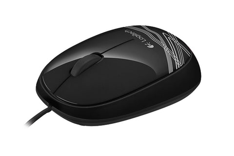 LOGITECH M105 CORDED MOUSE - BLACK - 3YR WTY