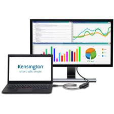 KENSINGTON VU4000D VIDEO AD APTER, NOTEBOOK (USB) TO MONITOR D/PORT 4K HD SUPPORT