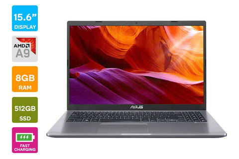 "ASUS D509BA A9-9425, 15.6"" HD, 512GB SSD, 8GB RAM + CARRY CASE"