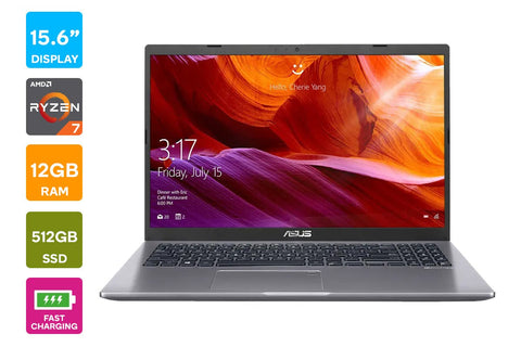 "ASUS D509DA R7-3700U, 15.6"" FHD, 512GB SSD, 12GB RAM + 3YR LOCAL RTB WARRANTY PACK"