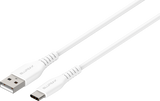 BLUPEAK 1.2M USB-C TO USB-A CHARGE/SYNC CABLE - WHITE (LIFETIME WARRANTY)