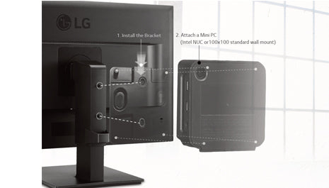 LG INTEL NUC MOUNTING KIT FOR  MB37, MB65, MB67, BK550 SERIES MONITORS