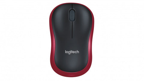 Logitech Wireless Mouse M185 - Red
