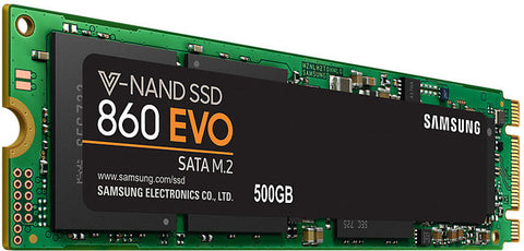 SSD 860 EVO - 500GB, Samsung V-NAND, M.2 (2280), SATA III 6GB/s, R/W(Max) 550MB/s/520MB/s,98K/90K IOPS, 300TBW, 5 Years Warranty