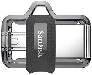 SanDisk Ultra Dual Drive m3.0, SDDD3 USB3.0, Black, USB3.0/micro-USB connector, OTG-enabled Android devices, 5Y